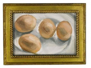 Lucian Freud, Four Eggs on a Plate, 2002. Copyright Sotheby's