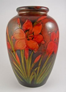 Moorcroft Flame Freesia vase at The Old Corkscrew