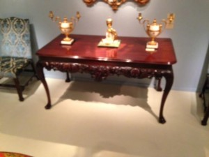 A George II Irish side table at Apter Fredericks (£225,000).