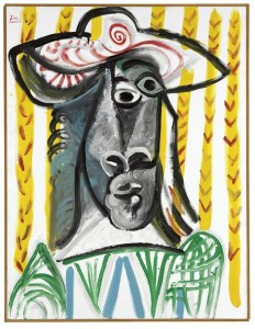 Pablo Picasso (1881-1973)  Tête sold for £4,450,500. Courtesy Christie's Images Ltd., 2015.