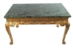Irish nineteenth-century carved gilt wood centre table (14,000-18,000)
