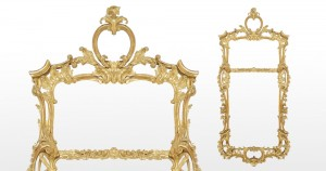 A c1780 carved gilt wood mirror (8,000-12,000).