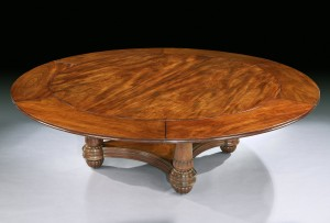 A George IV circular extending dining table.
