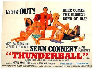 Thunderball cinema poster. 1965 (2,000-3,000).