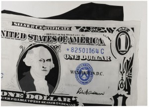 Andy Warhol - One Dollar Bill (Silver Certificate) sold for £20.9 million.
