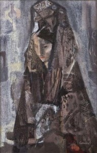 George Campbell - Woman in a Mantilla.