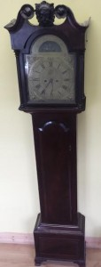 A George III longcase clock by Isaac Bull of Dublin.