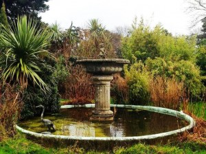 A large 19th century Irish cut granite fountain.