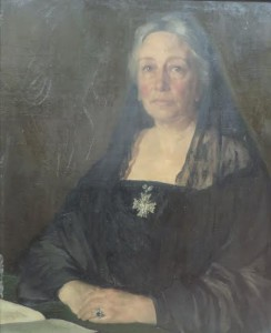 This half length portrait of Lady Gregory by Sir Gerald Festus Kelly sold for  15,000 at hammer over a top estimate of 12,000