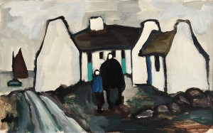 Markey Robinson 1918-1999) - Returning Home (2,500-3,500).