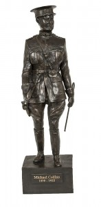 This bronze of Michael Collins by J. Flynn sold for 5,250 over an estimate of 1,500-2,500.