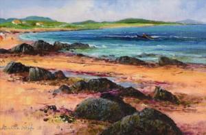 Kenneth Webb RWA FRSA RUA (b.1927) Coral Strand, Connemara  (2,500-3,500).