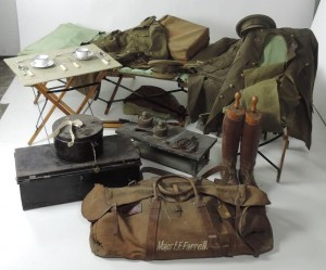 An exceptionally complete set of personal belongings of Major E.F. Farrell of Co. Meath