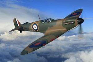 The Spitfire in Flight - copyright 2011 John Dibbs.