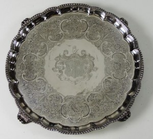 A large English salver by Paul Storr, London c1824 (6,000-8,000).