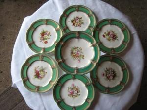 A Victorian hand painted dessert service at Brian Hurley (395).