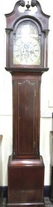 Georgian long case clock.