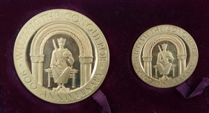 A 1966 proof gold medal by Spink, London commemorating the 900th anniversary of the Battle of Hastings  (5,000-7,000).