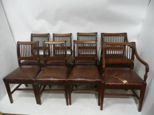 A set of eight Cork 11-bar chairs.