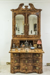 An 18th century bureau secretary bookcase  ($6,000-8,000).