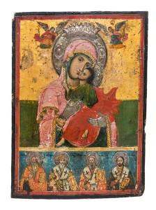 Icon, Russian School, 17th century ($4,000-6,000).
