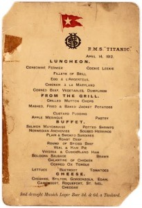 The Titanic lunch menu photo credit: Lion Heart Autographs ?