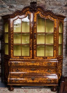 A Dutch two door display cabinet (1,800-2,400)