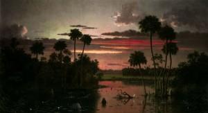 Martin Johnson Heade, The Great Florida Sunset 1887 $7/10 million