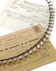 The Dowager Countess of Harcourt diamond necklace of about 65 carats. (US$1.3-1.9 million).