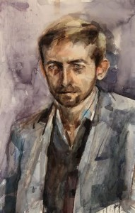 A portrait of Neil Hannon, lead singer with The Divine Comedy, by Aine Divine