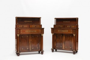 A pair of chiffoniers