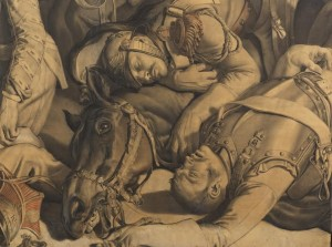 A detail of the work.