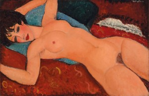 Amedeo Modigliani's Nu couché (Reclining Nude) painted in 1917-18. Courtesy Christie's Images Ltd., 2015.