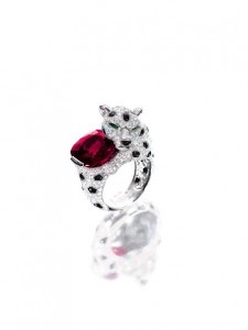 A 10.62 carat Burmese Mogok ruby, onyx and diamond ring. (|US$2.3-3.2 million).