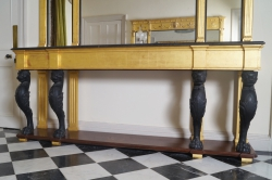 Large ebony and gilt wood console table (3,000-5,000).