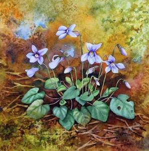 'Violets' by Sue Van Coppenhagen
