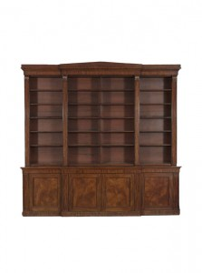 An IRISH FINE WILLIAM IV MAHOGANY BREAKFRONT BOOKCASE, attributed to Mack, Williams & Gibton made 33,000