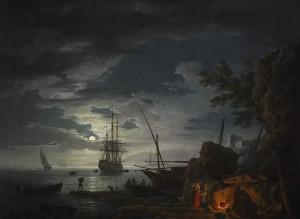 Claude Joseph Vernet Moonlit Seascape