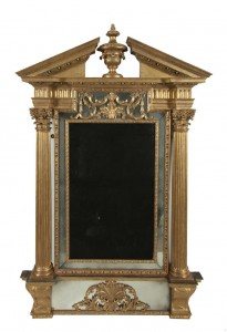 AN IRISH GEORGE II GILTWOOD PIER MIRROR, mid 18th century, by John and Francis Booker (40,000-50,000)