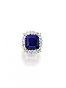 This emerald cut sapphire and diamond ring sold for US$6.7 million
