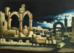 Daniel O'Neill (1920-1974) Ruins in the Moonlight (4,000-6,000)