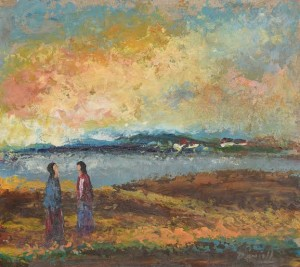 Daniel O'Neill (1920-1974) Two Figures in Landscape (1,200-1,800).