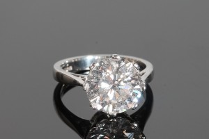 A five carat diamond solitaire at O'Reilly's.
