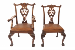 Set of ten nineteenth-century Chippendale chairs (8,000-12,000)