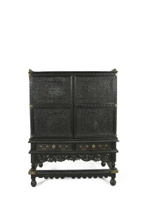 The South Indian cabinet engraved with the emblem of Tipu Sultan. (4,000-6,000)