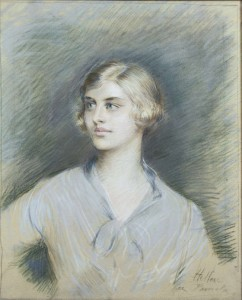 Paul César Helleu (1859-1927) Portrait of Pamela Mitford (20,000-30,000).