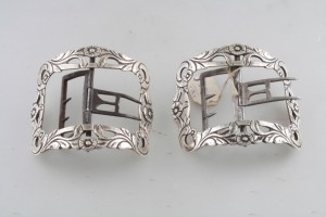 A pair of Cork silver buckles by John Warner c1785