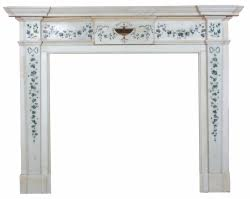 An Irish George III fireplace.