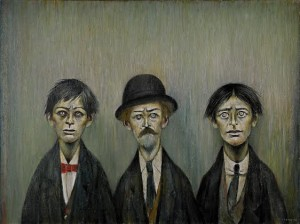 L.DS. Lowry - Father and Two Sons.