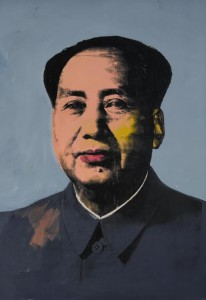This rare large scale Mao by Andy Warhol sold for $47.5 million.